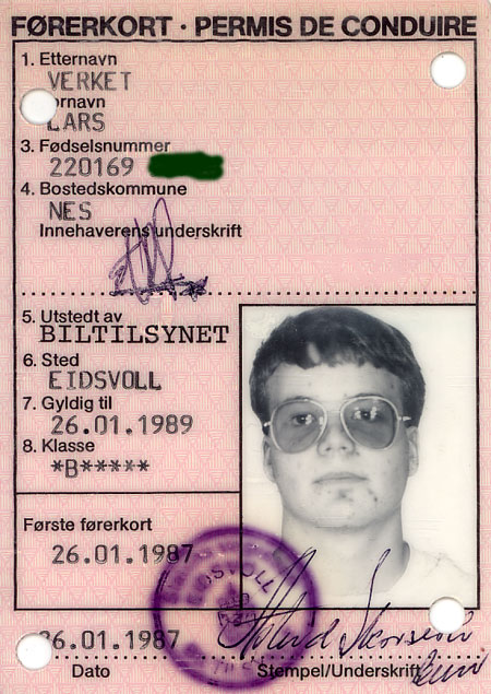 Gammelt førerkort